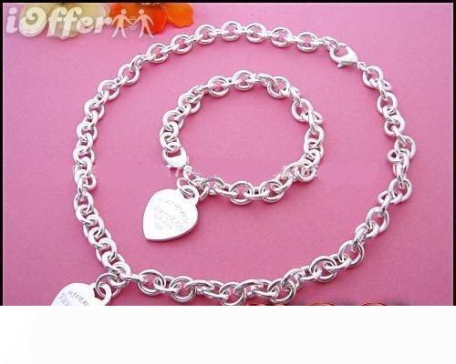 Nuevo 2019 Tiff925 caliente de plata collar de la joyería y de embalaje caja de regalo de la pulsera con caja de transporte gratuito