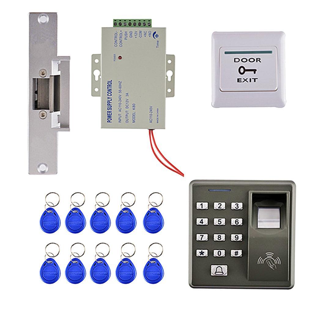 RFID Carte porte d'empreinte digitale de contrôle d'accès avec 10 cartes-clés