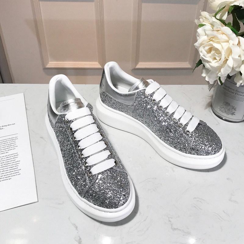 Con la scatola nera delle donne degli uomini Chaussures Shoe Bella piattaforma casuale delle scarpe da tennis dei progettisti scarpe di cuoio di colori solidi Scarpa 87