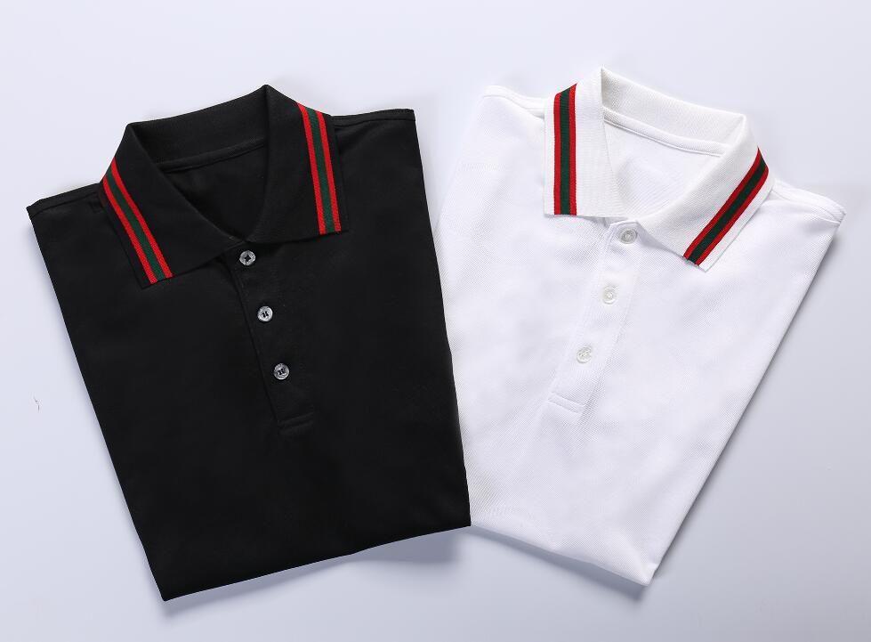 HOT NEW 2019! 남자 패션 여름 캐 튼 폴로 셔츠 / 고품질 브랜드 디자이너 남성 캐주얼 폴로 셔츠 / 탑스 G2010F120 큰 사이즈 M-XXXL