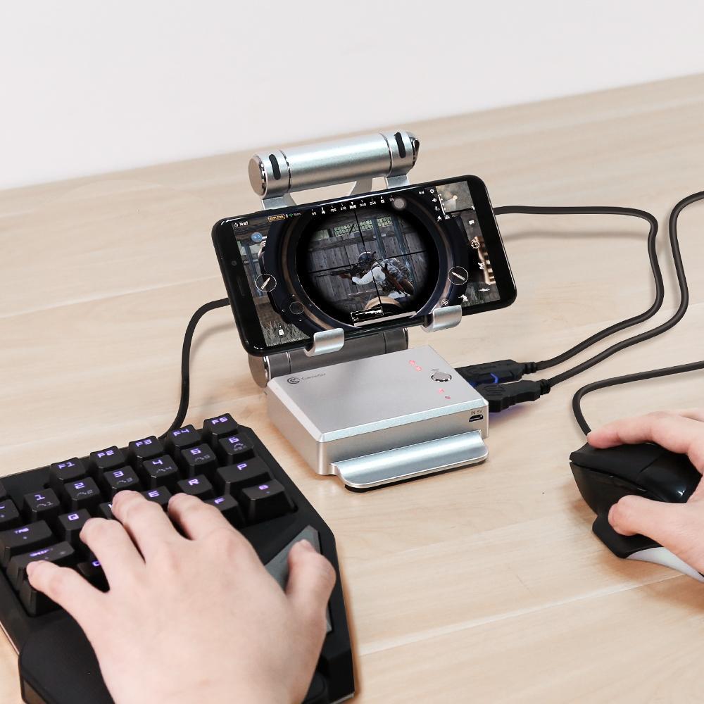 GameSir X1 BattleDock конвертер Стенд Док для AOV, Mobile Legends, FPS игры с G30 Gaming Проводная клавиатура и мышь HXSJ T191227
