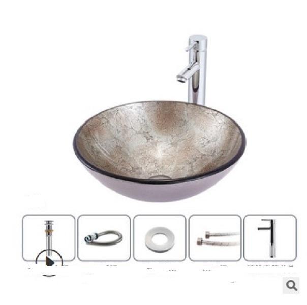 2020 hot sale Bathroom Sinks Bathroom manufacturers direct sales simple bathroom wash basin Hotel on stage basin tempered glass art Y8