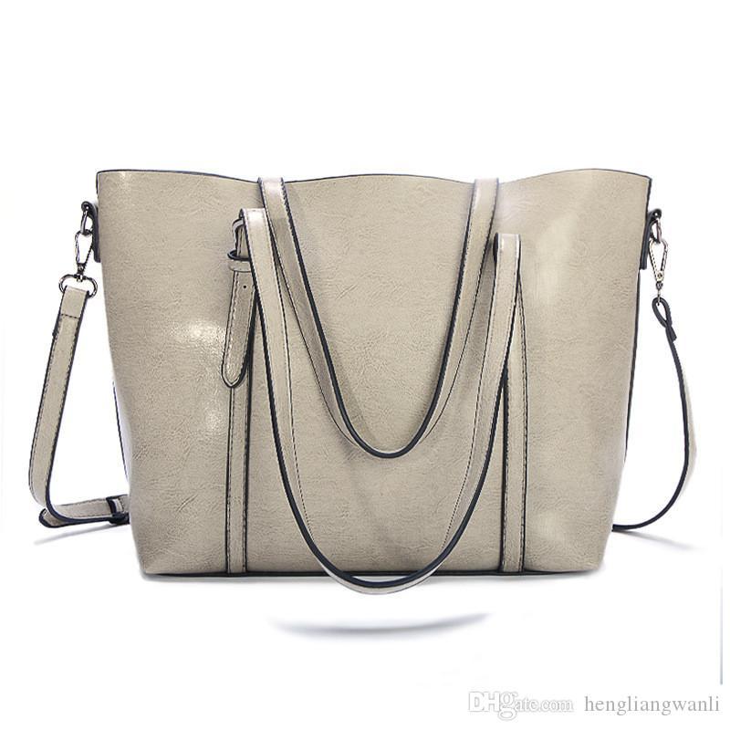 modèles d'explosion grand sac à bandoulière sauvage sac Messenger cuir simple dames portable sac fourre-tout des femmes de la mode