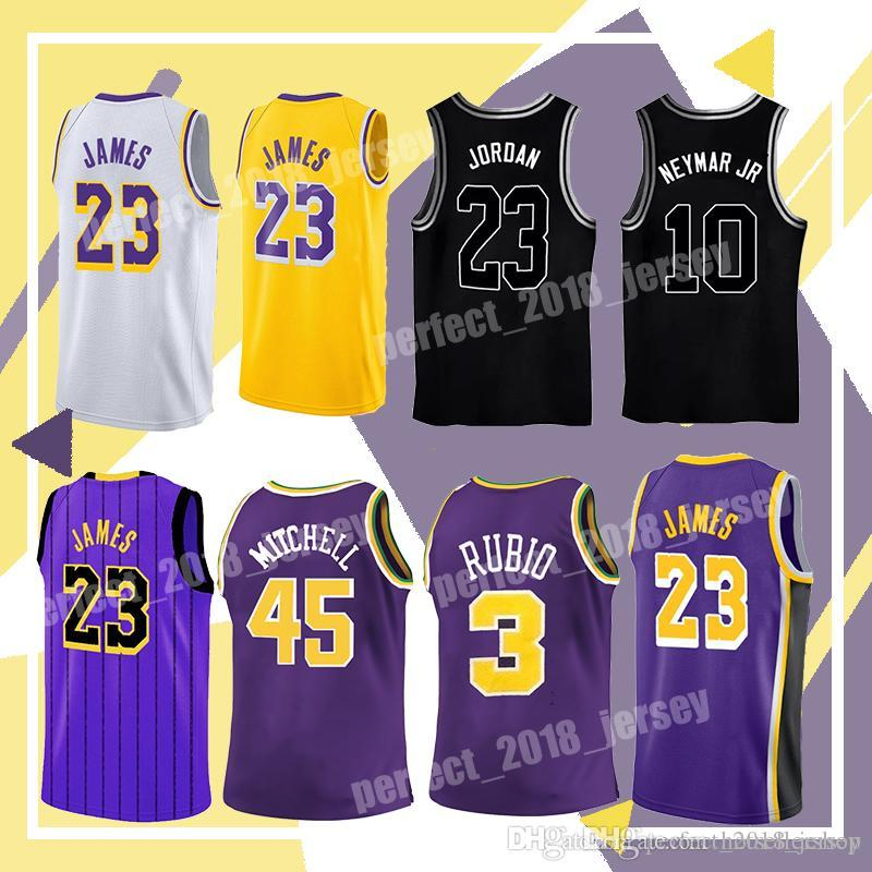 on sale 23e8a f48b8 2018 23 LeBron James Men'S New Purple City Jersey 0 Kyle Kuzma 2 Lonzo Ball  2019 Utah 45 Donovan Mitchell 3 Ricky Rubio Jerseys From Hotsellershop, ...