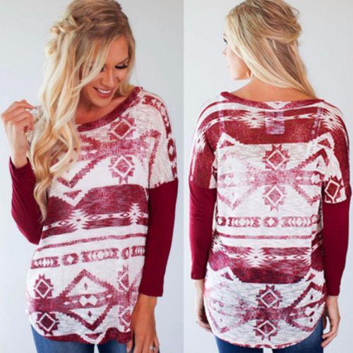 여성용 T 셔츠 2021 섹시한 여성 티셔츠 패션 긴 소매 캐주얼 느슨한 탑 T 셔츠 부드러운 면화 숙녀 인쇄 티 탑 크리스마스 선물