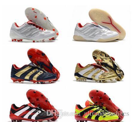 2020 pas cher chaussures pour hommes de football prédateur accélérateur électrique FG TR crampons de football Predator X FG précision gazon Beckham chaussures de football en salle