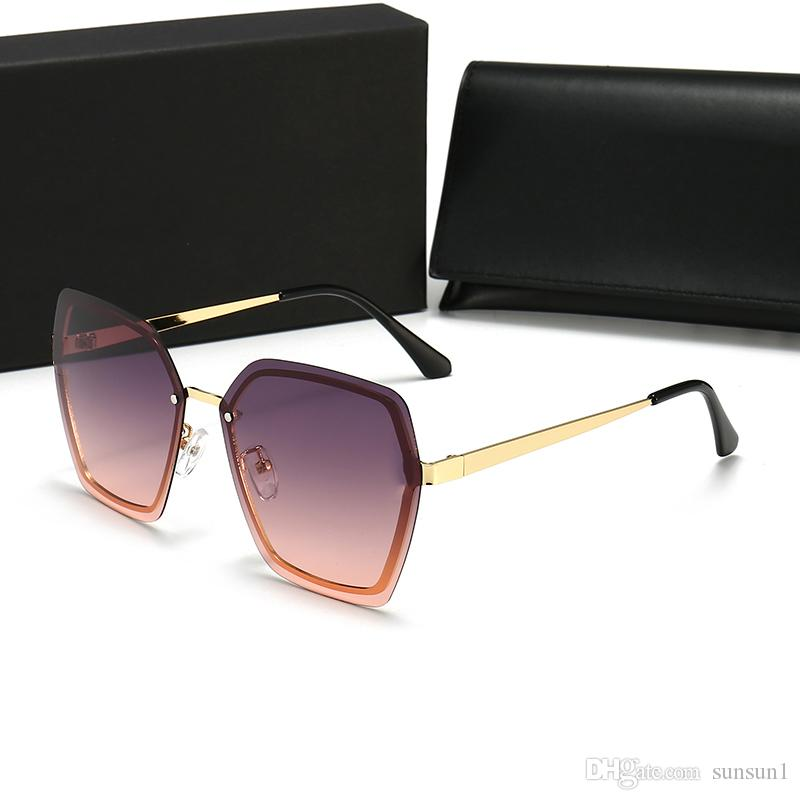 Casos y con gafas de tablones Gafas UV400 Gafas de metal Gafas de sol Hingas Sun Hombre Nuevos Gafas de sol para mujer Brand Quanlity High Designer B Xnfl