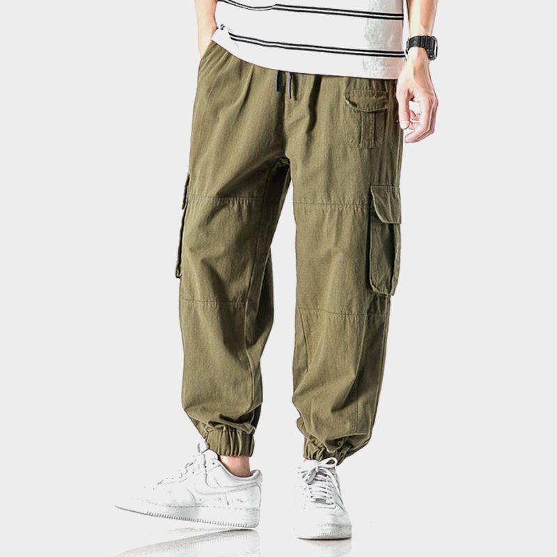 Men's Side Pockets Pleated Cargo Harem Pants 2020 Hip Hop Casual Male Joggers Trousers Fashion Casual Streetwear Sweatpants