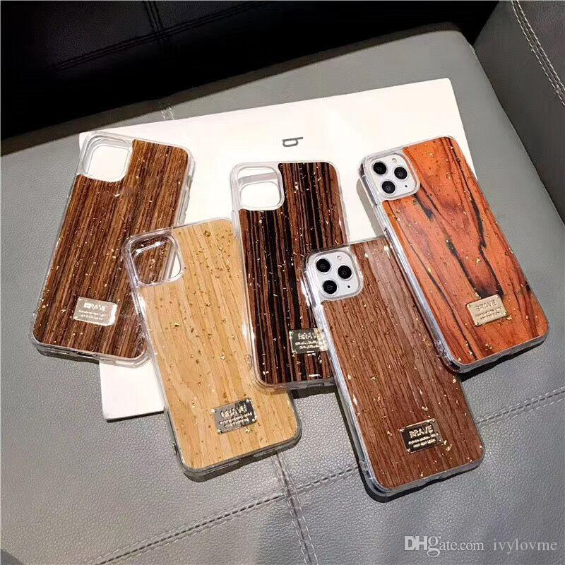 3D Wood Grain PU Phone Case For iPhone XR XS 11 Pro Max Case Soft Silicone for iPhone 6s 7 8 Plus Xs Max الكمالية Retro Cover
