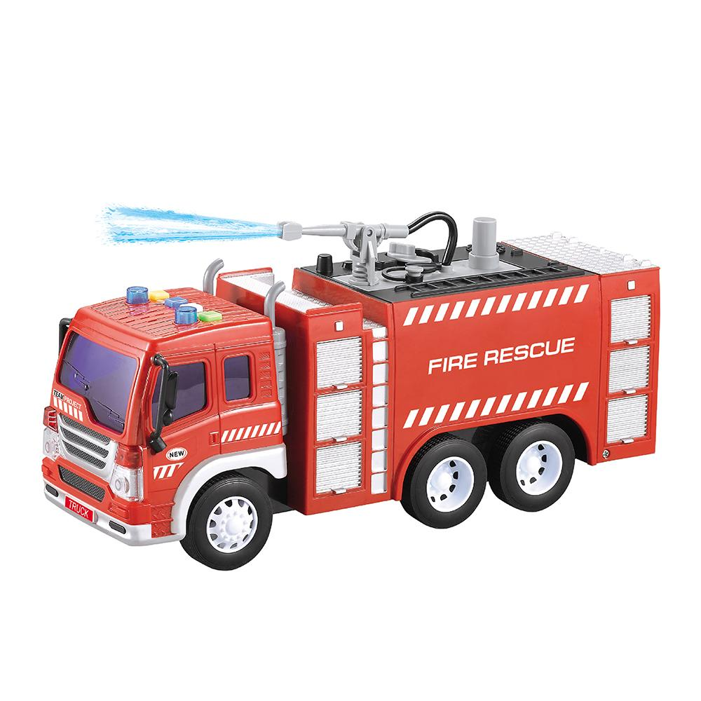TWWY351A new product 1:16 Friction Fire Fighting Truck with light & music & water function Display Box Packaging hot-sale wholesale