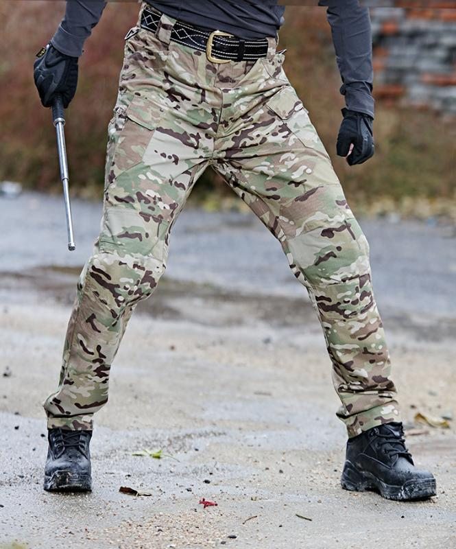 Мужские штаны Мужская модная уличная одежда Pante Casual Camouflage Jogger Harem Tactical Brousers Men Cargo для Dropmshippin