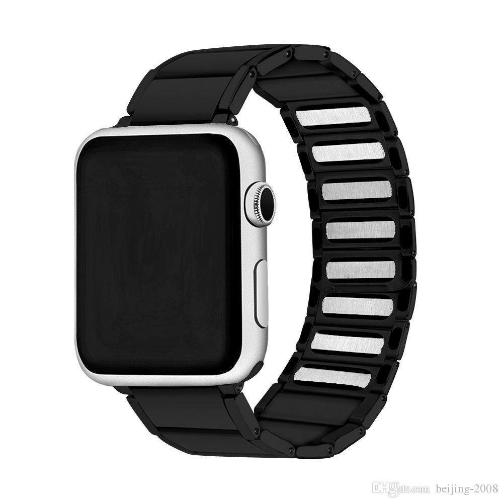 Apple Watch 용 스트랩 38 / 40mm 42 / 44mm 밴드 스테인레스 스틸 금속 1 링크 팔찌 Apple Watch 용 스마트 시계 스트랩