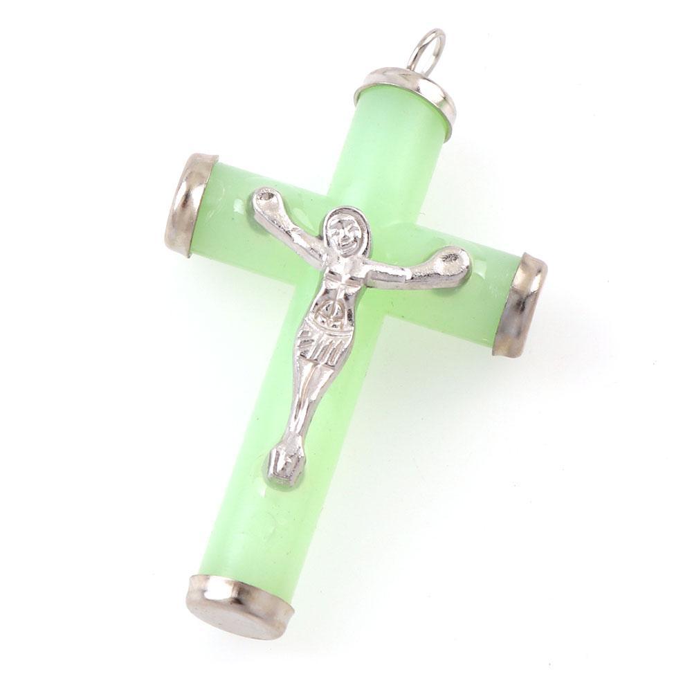 5 Шт. Смола кулон Световой Иисус Религиозное Распятие Подвески Очарование Ожерелье Ювелирные Изделия