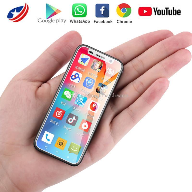 Melrose 2019 4G LTE Menor jogo 3.4 '' Quad Core Android 8.1 Fingerprint ID 2000mAh MINI pequeno entregas Android Phone Google