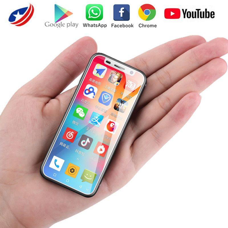 Melrose 2019 4G LTE маленький телефон Android Phone Google Play 3.4 '' Quad Core Android 8.1 отпечаток пальца ID 2000mah mini маленький смартфон