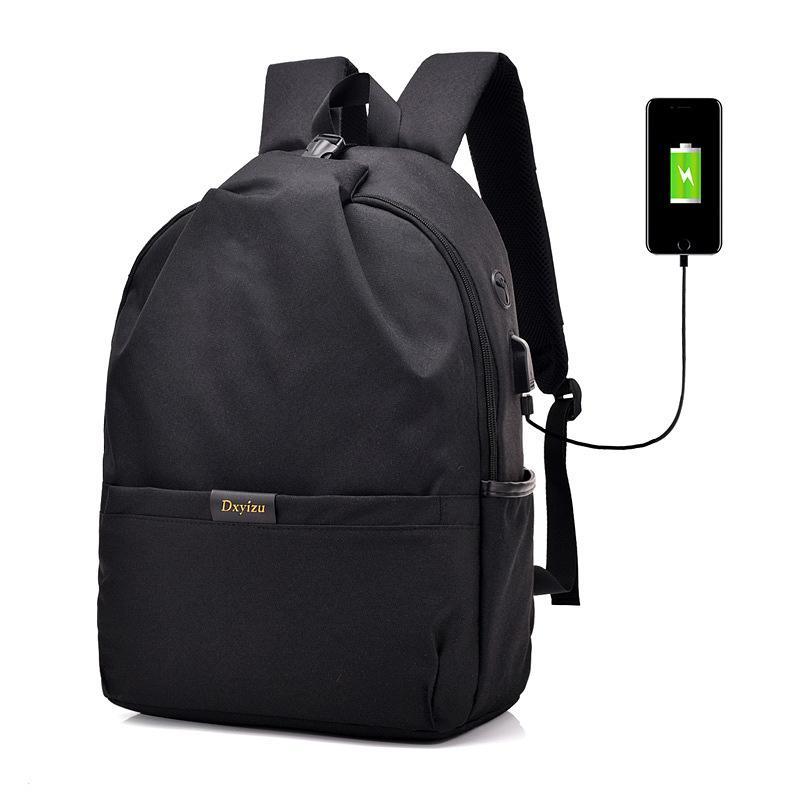 Antifurto zaino degli uomini Laptop Backpack grande capacità USB Charge College Student Bookbag di nylon impermeabile di viaggio Donne