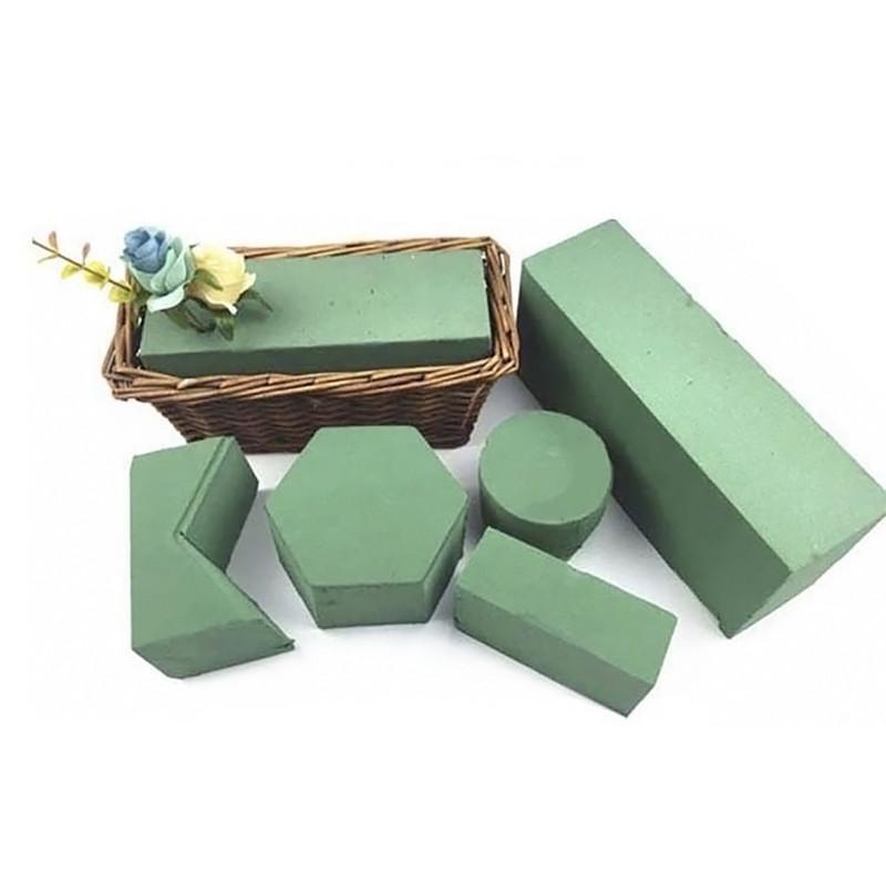 10pcs florales bloques de espuma, sostenedor de la flor de ladrillo Floristería Flor de espuma de poliestireno ladrillos verdes aplica en seco o húmedo de flores artificiales