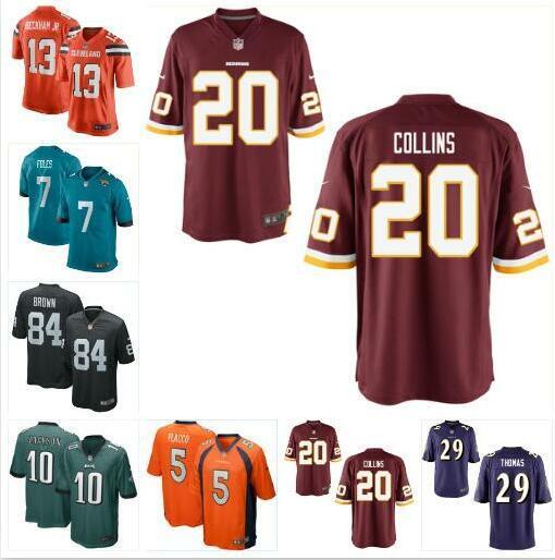 best cheap bcfb9 2a1f6 2019 Nick Foles Antonio Brown Jersey Odell Beckham Ravens Chiefs Mark  Ingram Earl Thomas Joe Flacco Landon Collins Football Jerseys Color Rush  From ...