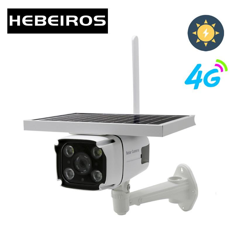 4G SIM Card Solar Battery Camera 1080P Waterproof Outdoor IP Wifi Camera Audio Wireless Security Surveillance CCTV