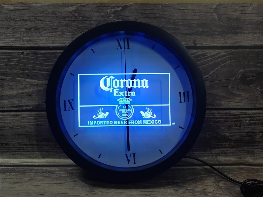 0e040 Mexico Beer Bar Bub Club APP RGB LED Neon Light Signs Wall Clock