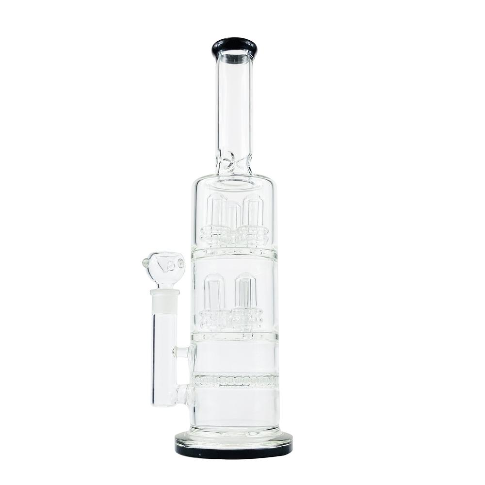 New style Handmade Oil Rigs Glass Bongs Large Water Pipe Vase Perc Percolator Smoking Piper 14mm Joint Thick Arms Free transportation