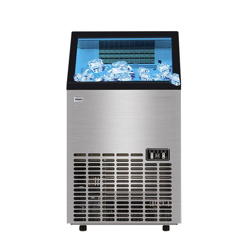VENTA eléctrica automática del fabricante de hielo del cubo de hielo que hace la máquina pequeño bar Cafetería 80kg máquina de hielo con agua