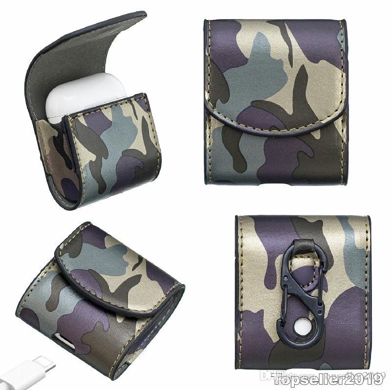 Pour AirPod Camouflage Ecouteur Set Livraison gratuite en gros cuir Sac plus défunte conception B139