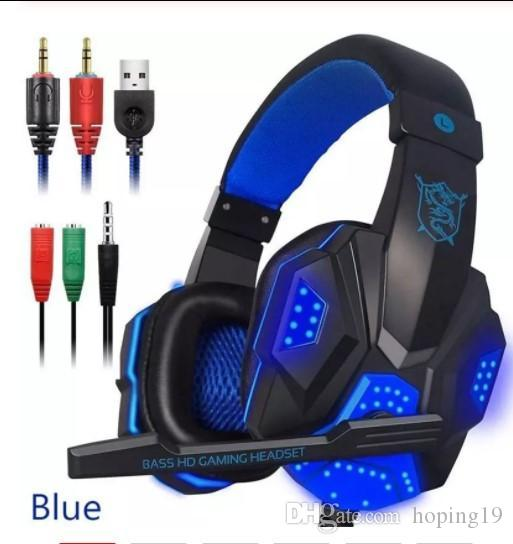 Sales Ostart PC780 Gaming Headphones Wired Gamer Headset Stereo Sound Over Ear Earphone with Mic and LED Light for PC Laptop PS4 hot