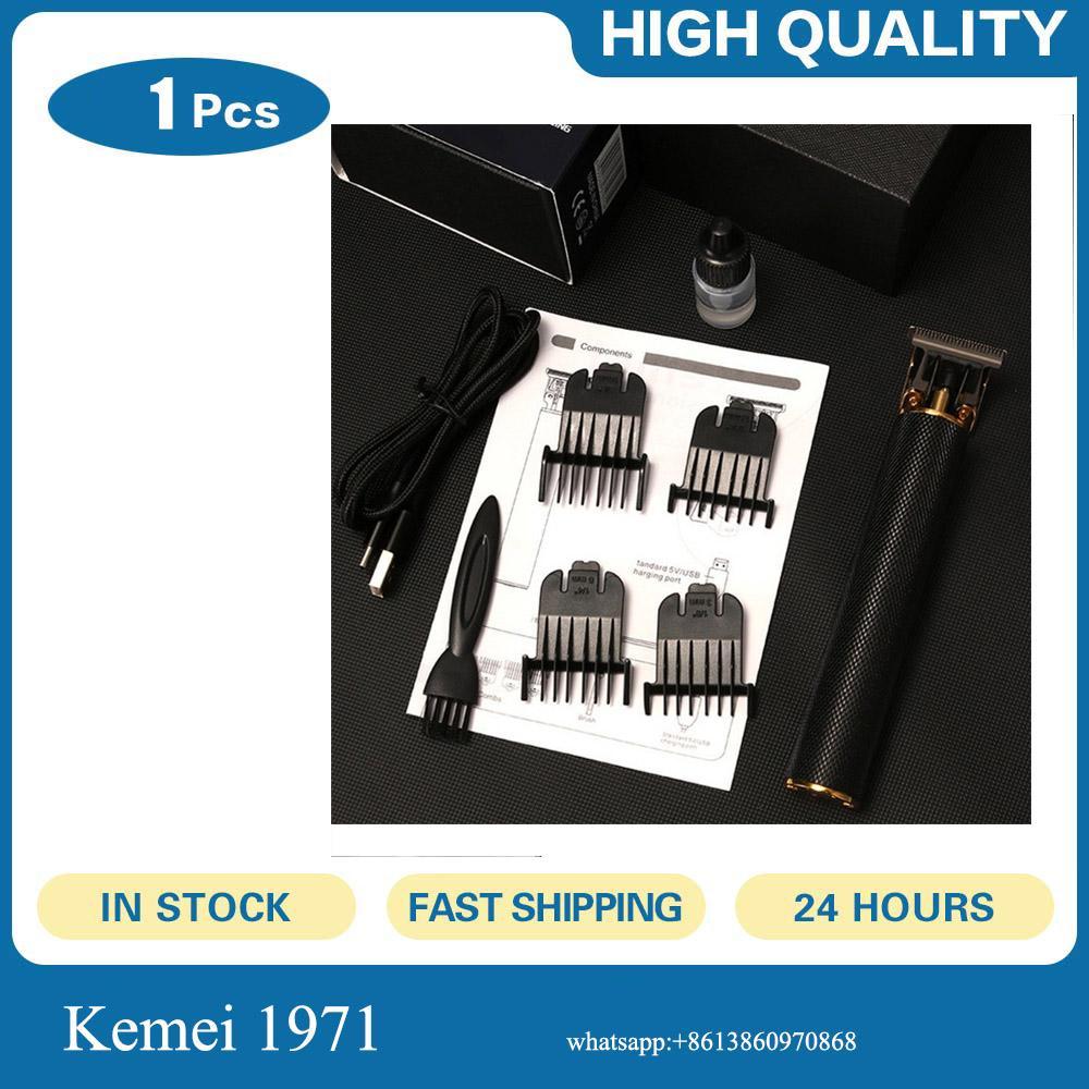 Kemei 1971 Pro T Cordless cabelo Trimmer Clipper Rasoio a mano libera Escultura Ferramenta de Metal Blade trimer za Kosu