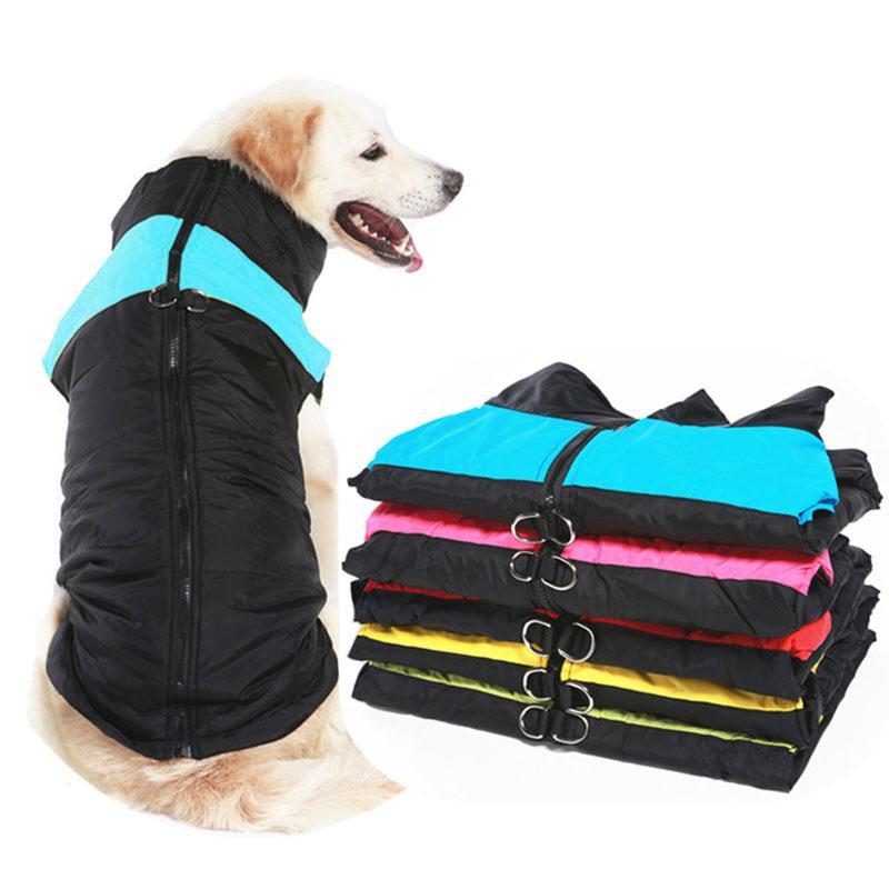 ropa para perros mascota de invierno grandes y ropa caliente cachorro capa impermeable perro mascota pequeño chaleco medio para perros Golden Retriever