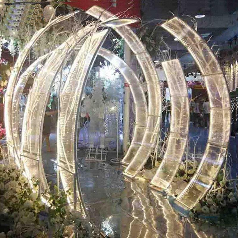 Wedding Upscale Centerpieces Decoração Estrada Citado Arch Porta Xingguang Avenue T- Encenado Entrada suporte chumbo para Artigos para Festas