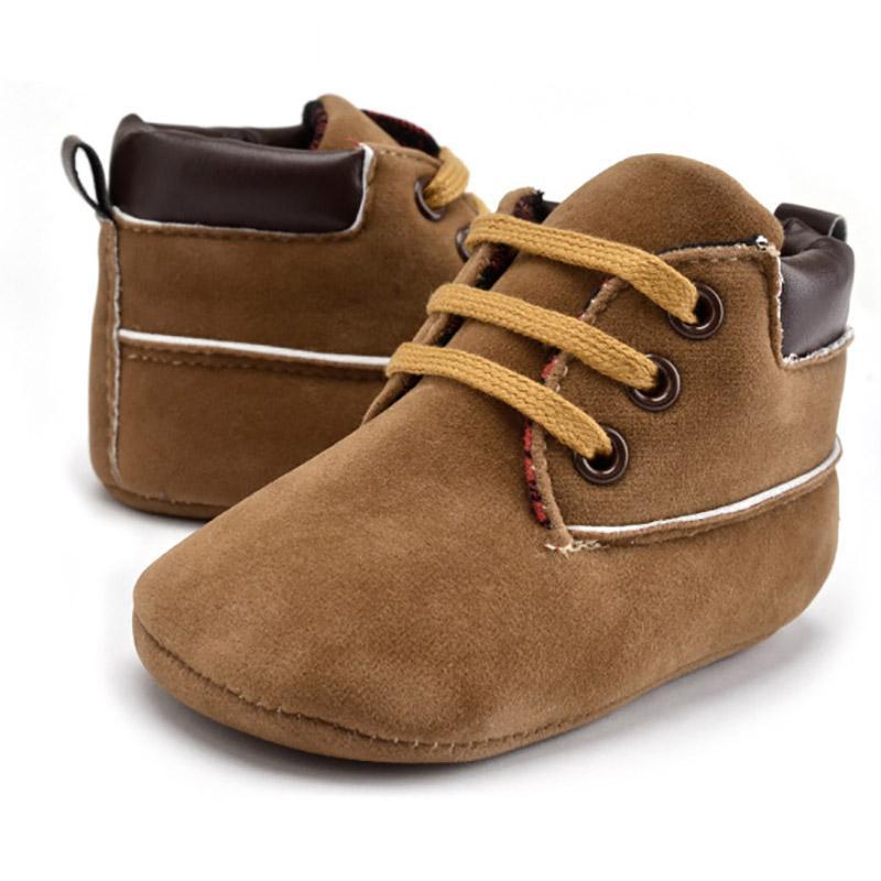 Newborn ragazze dei neonati classico bello primi camminatori PU scarpe di cuoio bambino infantili suole molli stivali per 0-18M