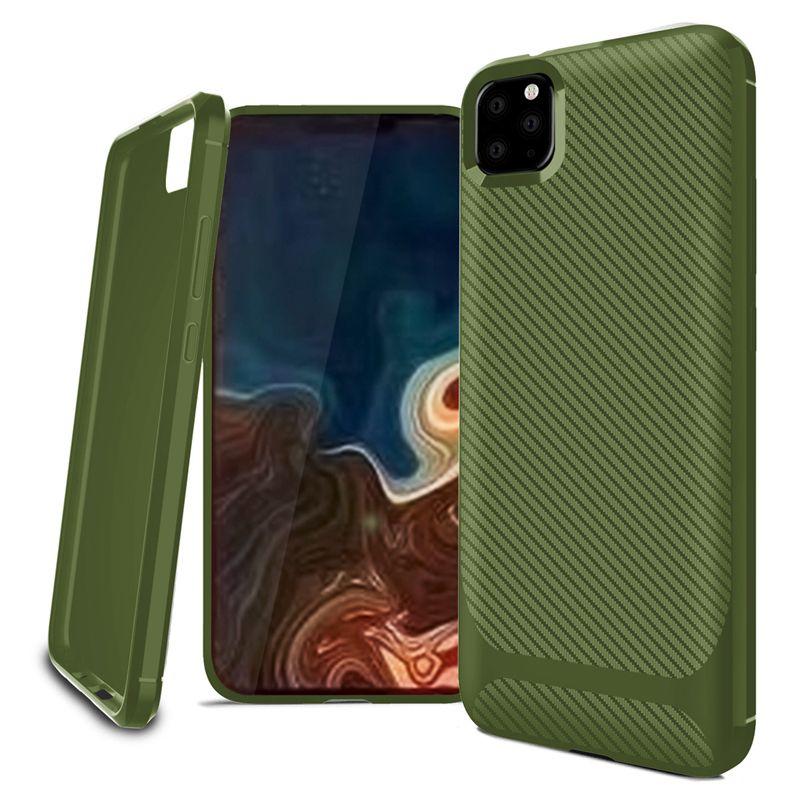 New Carbon borracha fibras à prova de choque tampa do telefone móvel para o iphone 11 pro x xr xs max 8 7 6 mais TPU