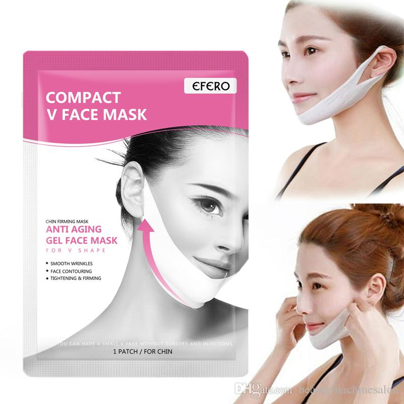 Doppel-V-Gesichtsmaske Firming Maske Doppel Ohr 7 Art Lifting Abnehmen Gesichtsmasken V-Form Aufzug Peel-off-Verband Skin Care TSLM1