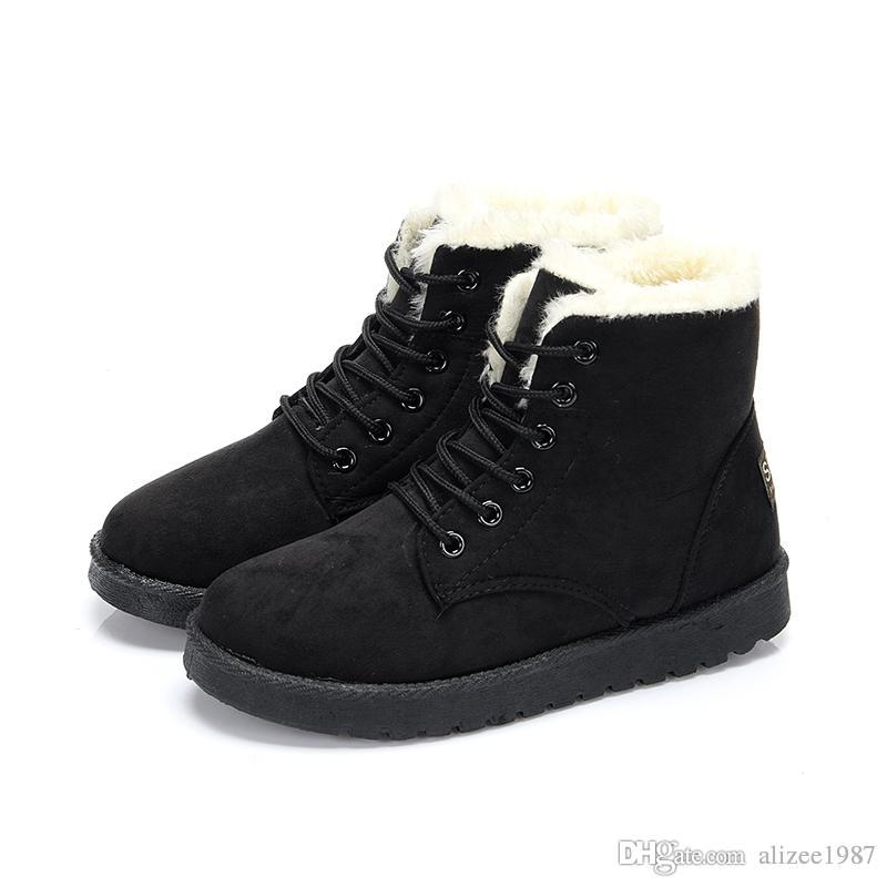 2019 Winter snow Women Australia Classic kneel half Boots cheap Ankle boots Black Grey navy red Wool Womens girl Bottes Size 35-40
