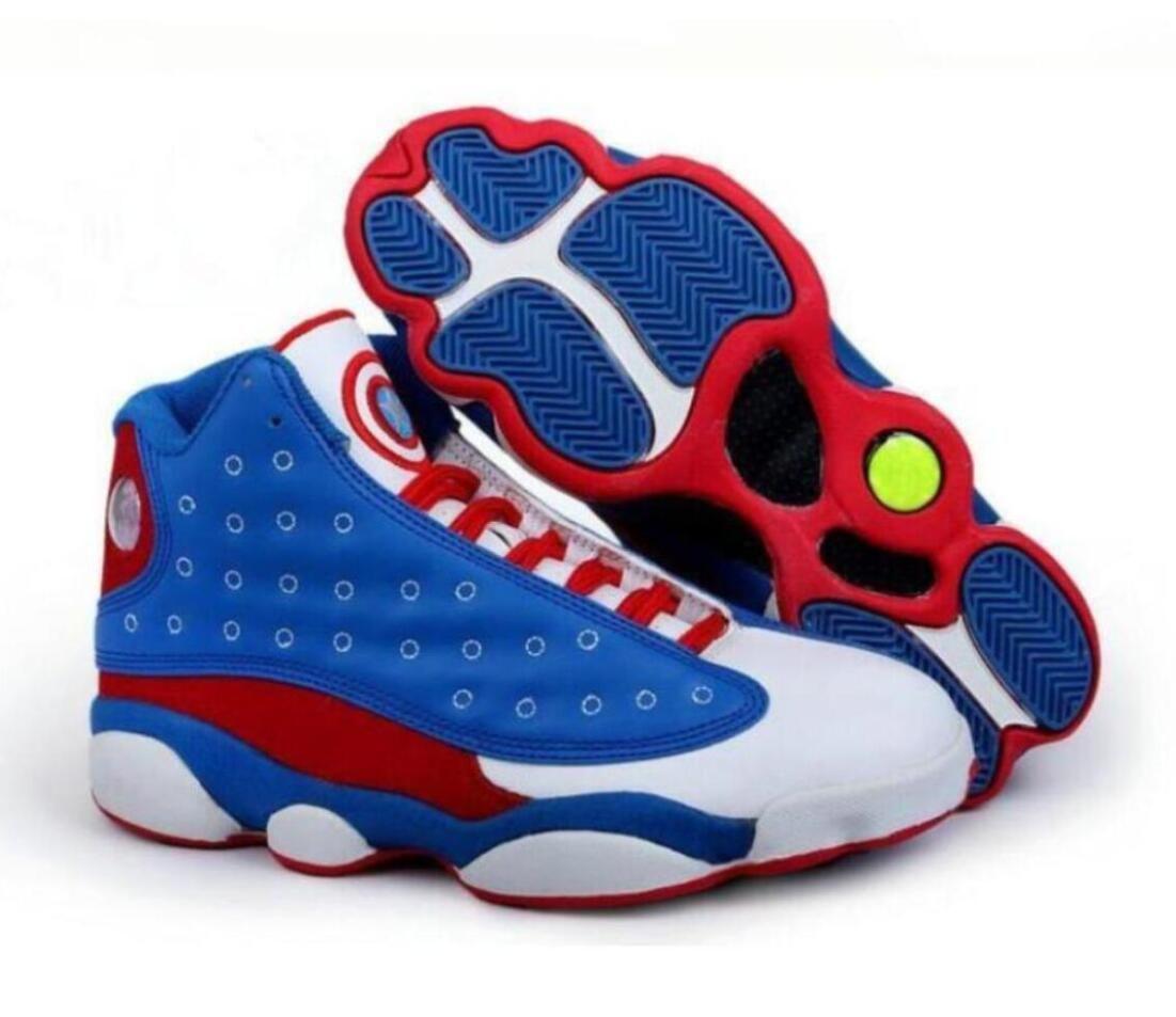 2019 новости продажа мужская баскетбольная обувь Капитан Америка 13s XIII черный кот Кремни Легкая атлетика кроссовки спортивная обувь 13s тренеры fengsky