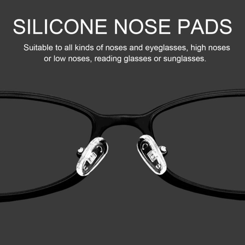 25 пар 13мм Силиконовые Нос колодки Винт на нос колодки Нажмите на ремонтный инструмент для очков Солнцезащитные очки очки Аксессуары
