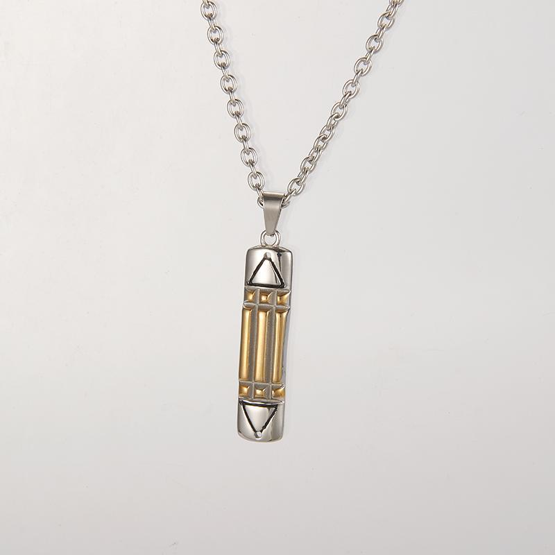 Collar Atlantis color ZPAMS acero inoxidable collar de plata las mujeres de los hombres de oro para los hombres / de las mujeres a largo encanto de la cadena Collares