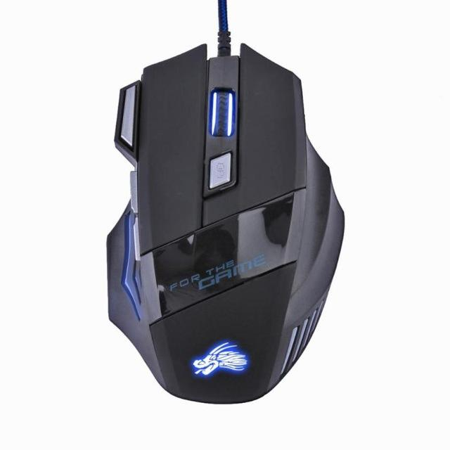 Управление 5500DPI LED Optical USB Проводная мышь Gaming 7 Кнопки Gamer Компьютерные мыши Gaming Mouse 7 Кнопки Gamer Компьютерные мыши
