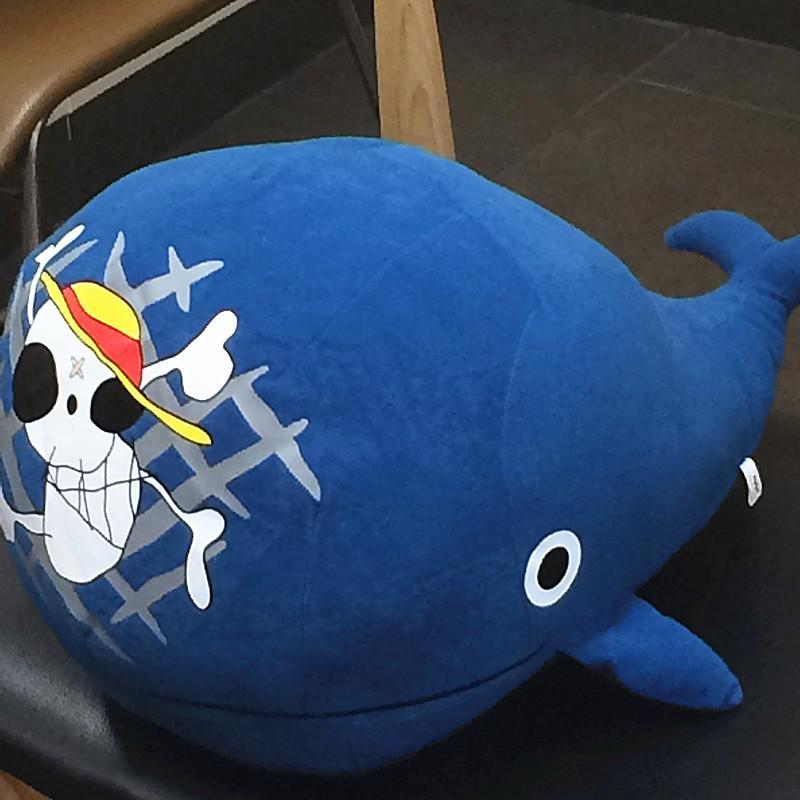 42cm de alta calidad de la manera Suministro de regalos UNA PIEZA Raab Laboon muñeca de la felpa El Sombrero de Paja muestra de la isla ballena de peluche de juguete Y200703