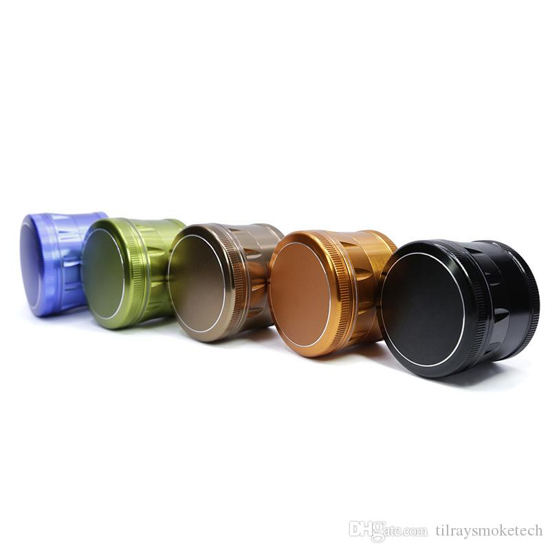New style 63mm diameter 4 layers aluminium alloy chamfer herb grinder tobacco grinder