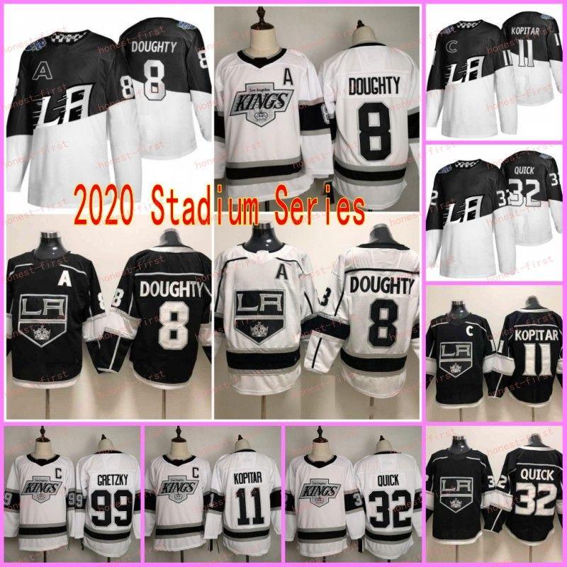 2020 Stadium Series Los Angeles Kings Hockey Jerseys 11 Anze Kopitar 8 Drew Doughty 32 Jonathan Quick 77 Jeff Carter Black Stitched Jersey