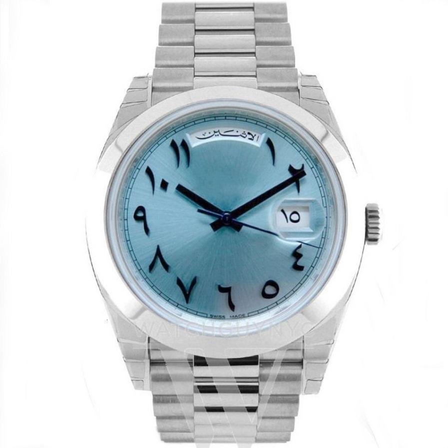 49 개 색상 명품 시계 도매 DATEJUST Daydate 남성 RLX 자동자가 -Wind 18K 시계 스테인레스 스틸 시계 없음 배터리 2813 (144)
