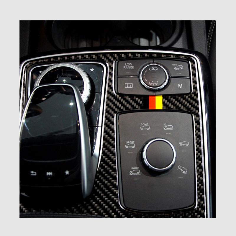 탄소 섬유 중앙 통제 팔걸이 상자 멀티미디어 스티커 커버 메르세데스 벤츠에 대한 스타일링 자동차 GLE GLS M 클래스 자동차 액세서리