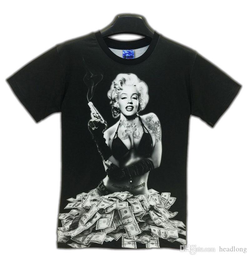 808e96a32 ... Newest Styles Vogue T shirts Sexy Marilyn Monroe T-shirt For Men/Women  clothing ...