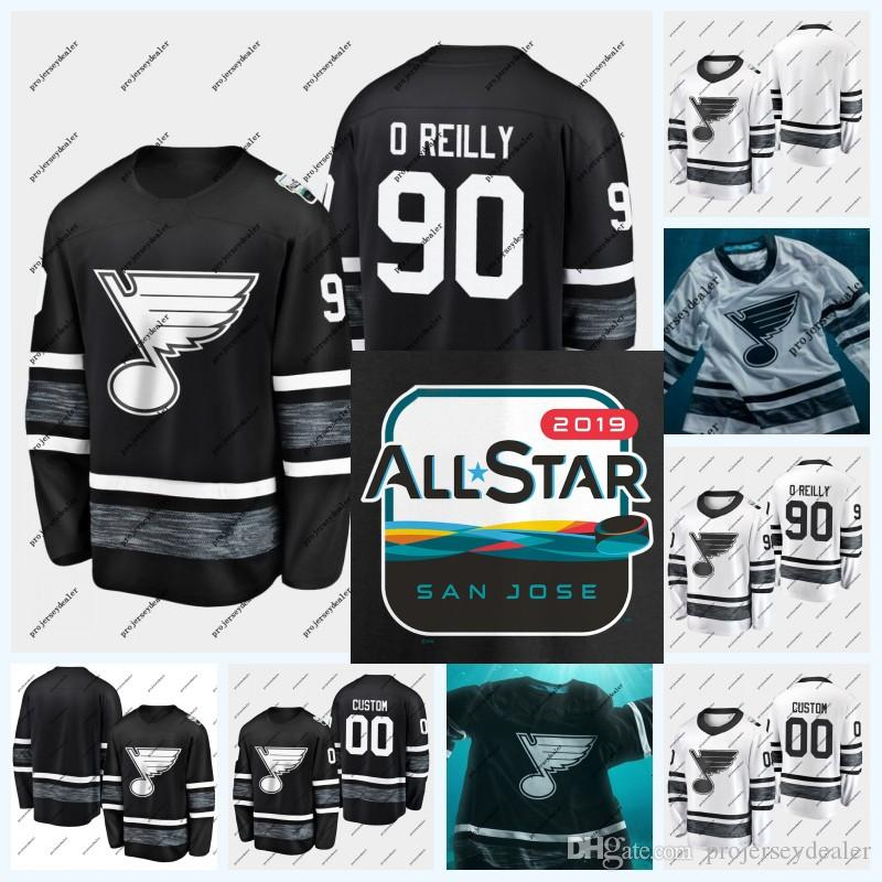 90 Ryan O'Reilly St. Louis Blues Joel Edmundson Wladimir Tarasenko Jake Allen David Perron Brayden Schenn All-Star-Game-Hockey-Trikot 2019