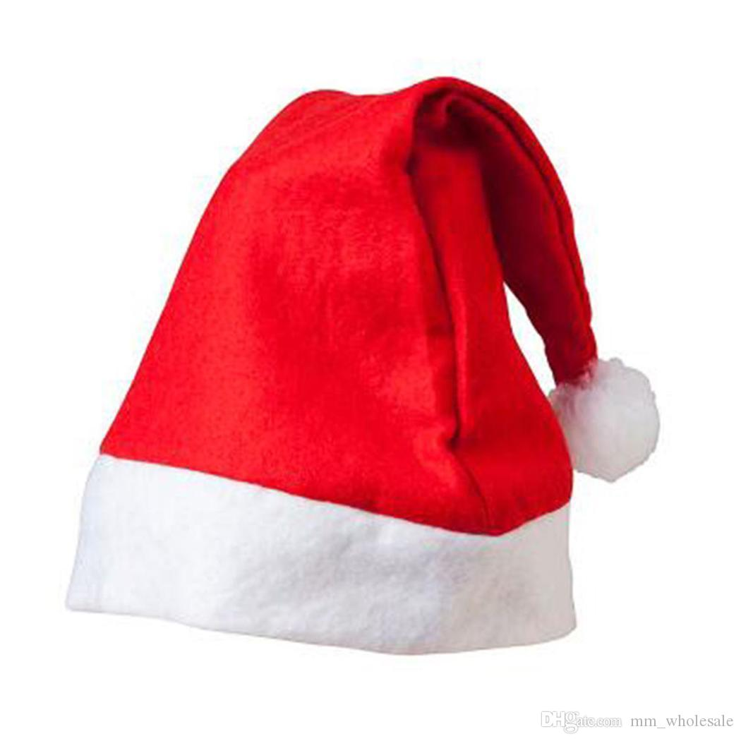 Red Santa Claus Hat Ultra Soft Plush Christmas Cosplay Hats Christmas Decoration Adults Christmas Party Hats
