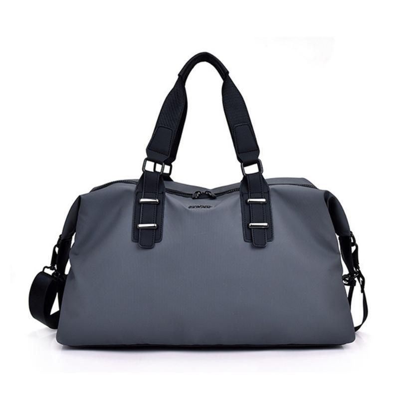 Nuevo 2020 hombres de la bolsa de viaje de gran capacidad negro deporte de nylon impermeable de los bolsos de mano del equipaje por un fin de semana de los hombres al aire libre del viaje bolsa de lona
