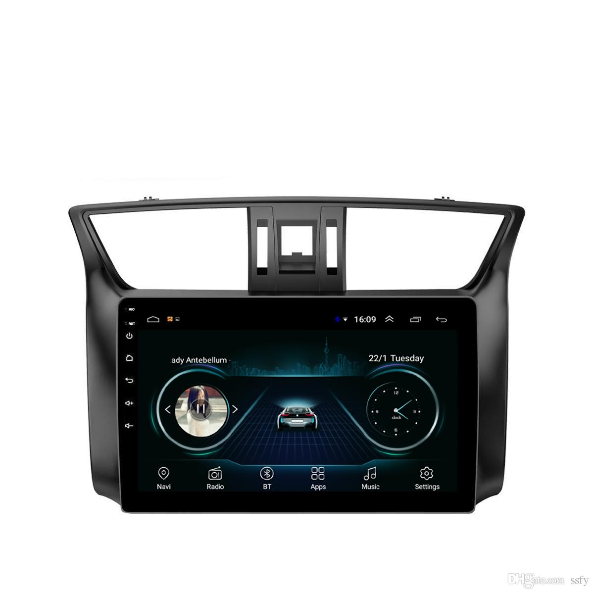Android car radio with multi-touch screen Resolution HD 1024 * 600 microphone bluetooth fast delivery for Nissan sylphy 2012-2015 10.1inch