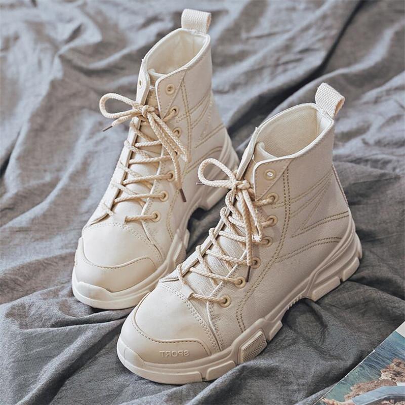 Calde di vendita-Nuovo stivali tela stilista femminile di moda inglese femmina casuale high-top confortevole caviglia stivali delle donne per le donne